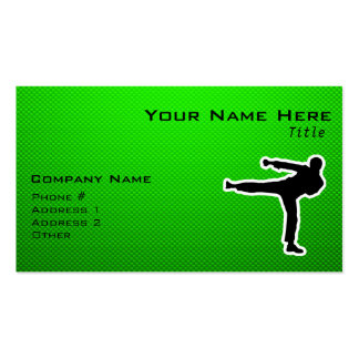 Green Martial Arts Business Cards