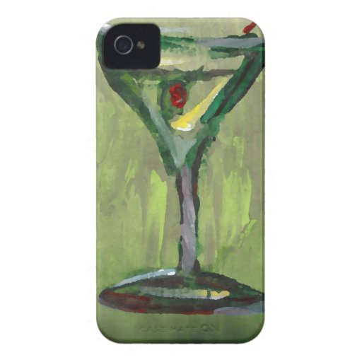 green martini abstract kitchen cocktail bar art iPhone 4 covers