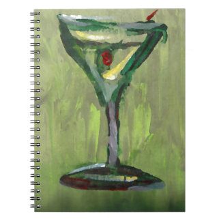 green martini abstract kitchen cocktail bar art note book