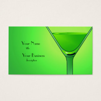 Green Martini Cocktail Business Card
