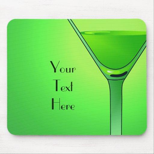 Green Martini Cocktail Mousepad