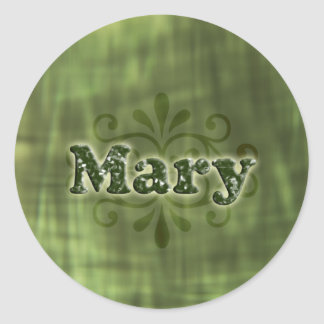 Green Mary Classic Round Sticker