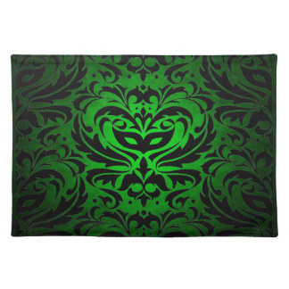Green Masquerade Damask Stylish Placemat