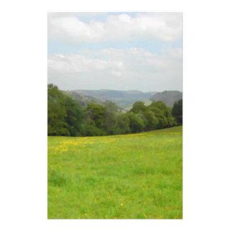 Green meadow. Countryside scenery. 14 Cm X 21.5 Cm Flyer