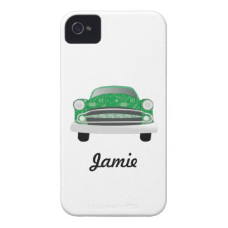 Green Mean Retro Car Boy s Birthday Case-Mate iPhone 4 Cases