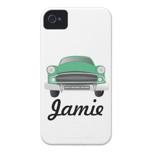 Green Mean Retro Car Boy's Birthday iPhone 4 Case-Mate Case