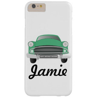 Green Mean Retro Car Boy's Birthday Barely There iPhone 6 Plus Case