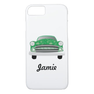 Green Mean Retro Car Boy's Birthday iPhone 7 Case