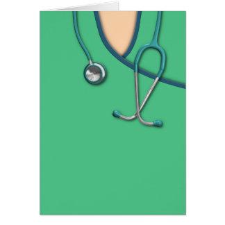 Green Medical Scrubs Card