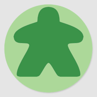Green Meeple Stickers