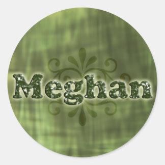 Green Meghan Round Sticker