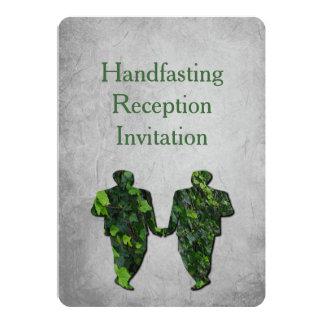 Green Men & Ivy Gay Handfast Reception Invitation