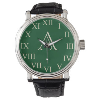 Green Men's Personalized Monogram Bold Big Watch