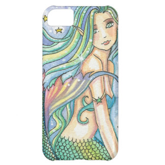 Green Mermaid iPhone 5 Case by Molly Harrison