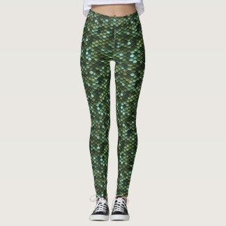 Green Mermaid Printed Leggings