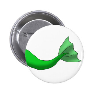 Green Mermaid Tail 6 Cm Round Badge