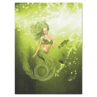 Green Mermaid Tissue Paper