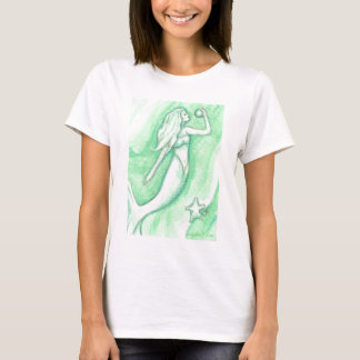 Green Mermaid with Pearl and Starfish Shirt