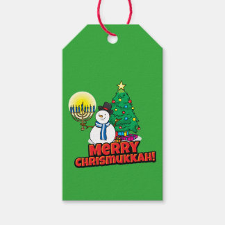 """Green """"Merry Chrismukkah"""" Gift Tags"""