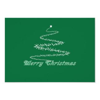 Green Merry Christmas Invitation Template