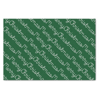 Green Merry Christmas Tissue Paper