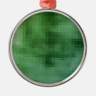 Green Mesh Glass Effect Art Christmas Ornament