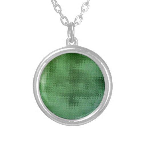 Green Mesh Glass Effect Art Pendants