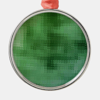 Green Mesh Glass Effect Art Silver-Colored Round Decoration