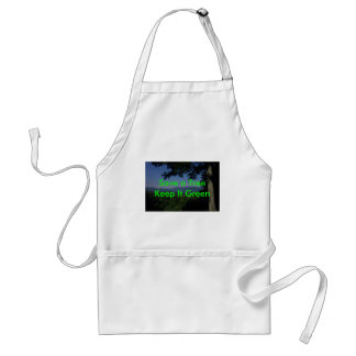Green Message Aprons