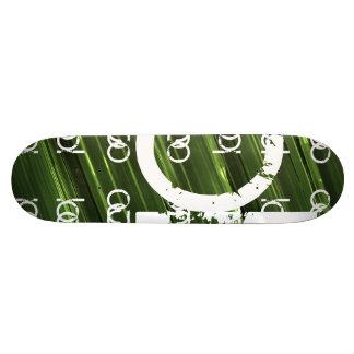 Green metal lights abstract text skateboard