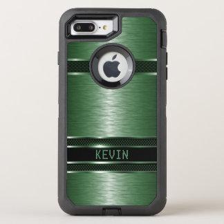 Green Metallic Geometric Design GR1 OtterBox Defender iPhone 8 Plus/7 Plus Case