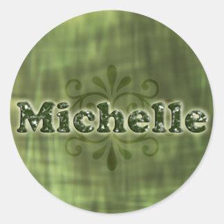 Green Michelle Round Sticker