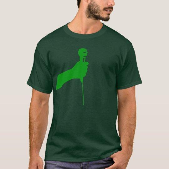 Green microphone shirt