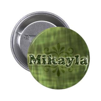 Green Mikayla 6 Cm Round Badge