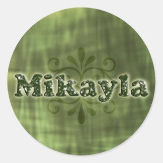Green Mikayla Round Sticker