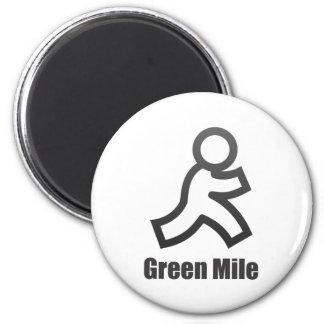Green Mile 6 Cm Round Magnet