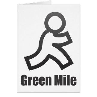 Green Mile Greeting Card