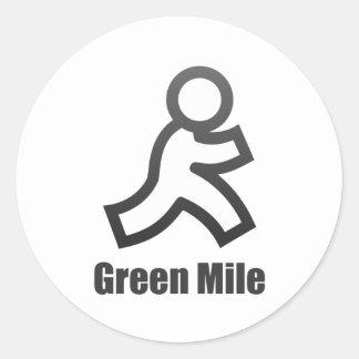 Green Mile Round Sticker
