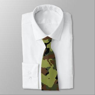Green Military Camo Tie