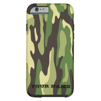 Green Military Camouflage Tough iPhone 6 Case
