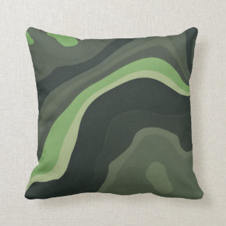 Green Mind 3 Throw Pillows