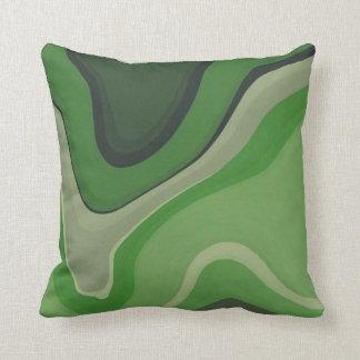 Green Mind Throw Pillows