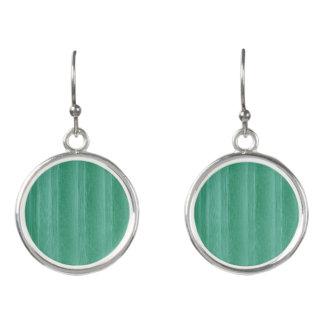 Green Mint Circle Drop Earrings