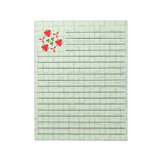 green modern abstract geometric patterm notepad
