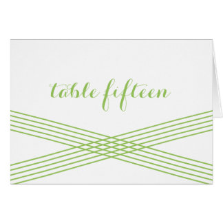 Green Modern Deco Table Number Card Greeting Card