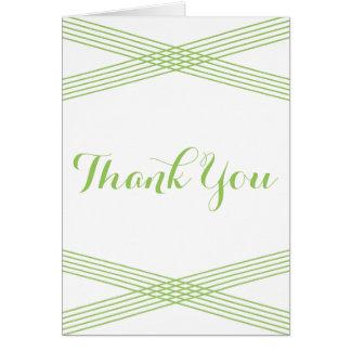 Green Modern Deco Thank You Card Greeting Card