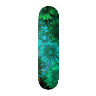 Green modern floral 20 cm skateboard deck