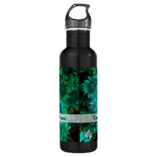 Green modern floral 710 ml water bottle