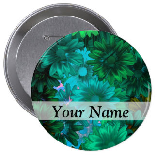 Green modern floral pin
