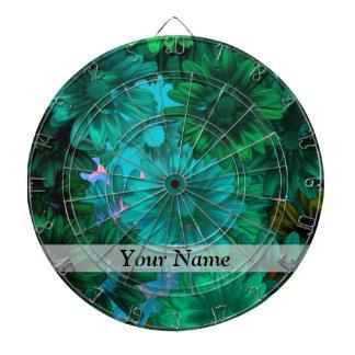Green modern floral dart board